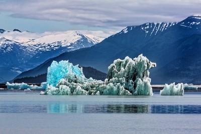 An Iceberg In The Inside Passage Of Alaska