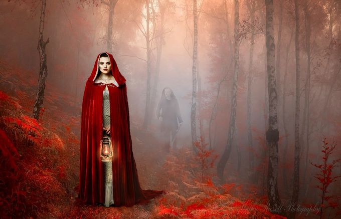 Little Red Riding Hood Is in Trouble by scarlettnjo - Post Editing Magic Photo Contest