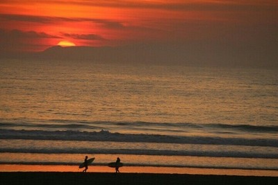 End of day for surfers