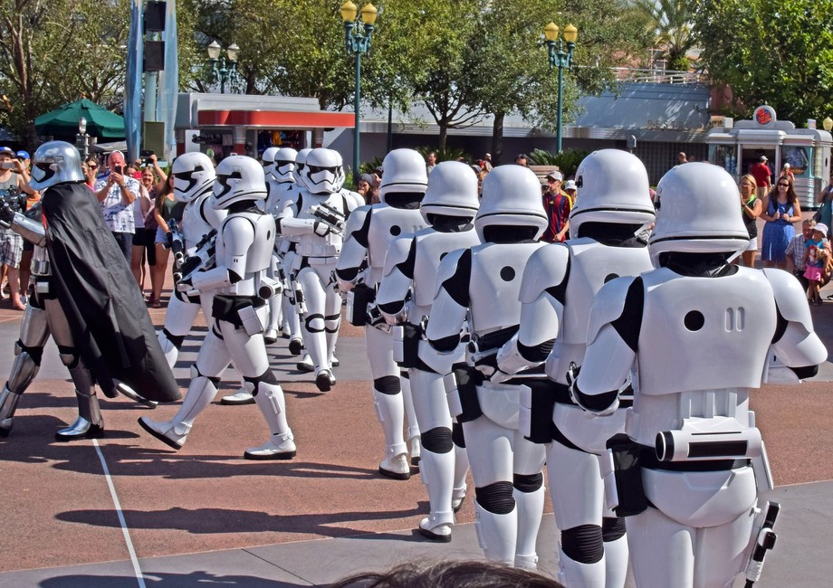 Storm troopers on parade at Disney Hollywood studios.
