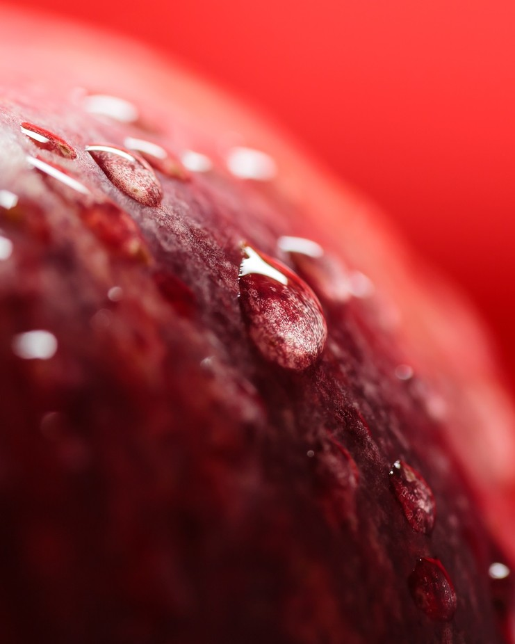 Water drops on Red Gala 3 by AlexanderW - Epic Abstractions Photo Contest