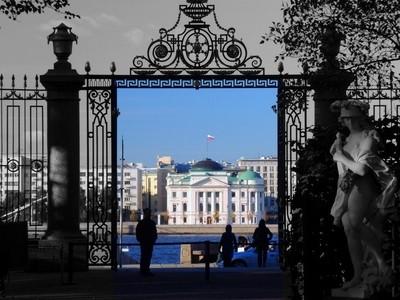 The view from the Summer garden. Saint-Petersburg.
