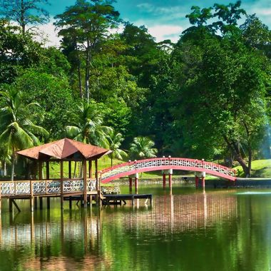 Reservoir Park in Kutching, Borneo