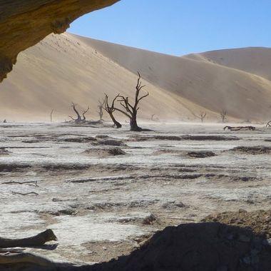 Dead trees in Dead Vlei, Sossusvlei in Namibia.