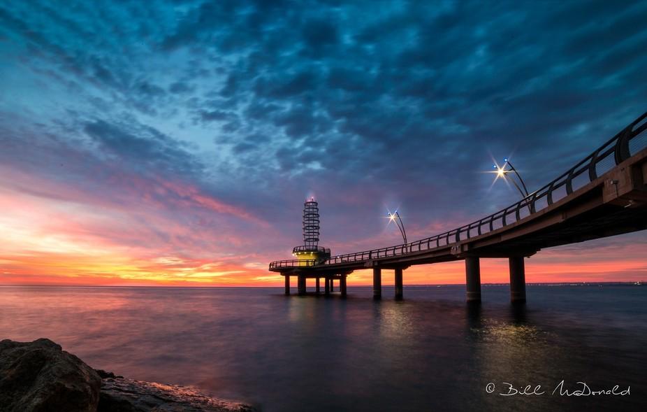 Brant Street Pier, just before sunrise. Location- Burlington, Ontario
