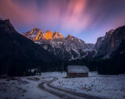 Krnica valley sunset
