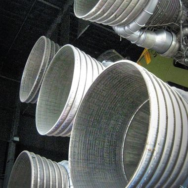 Nozzles on the Saturn rocket located in the museum at Redstone Arsenal.