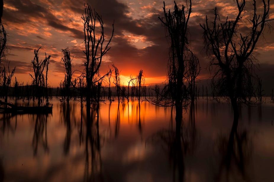 Sunset on Lake Naivasha, Kenya