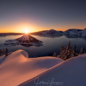 Wizard Light ~ my first ever trip to Crater Lake in Oregon. Deep, fresh snow. I had never snow-shoed in my life before. I was alone and totally u...
