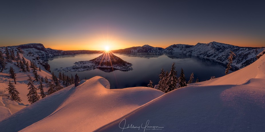 Wizard Light ~ my first ever trip to Crater Lake in Oregon. Deep, fresh snow. I had never snow-sh...