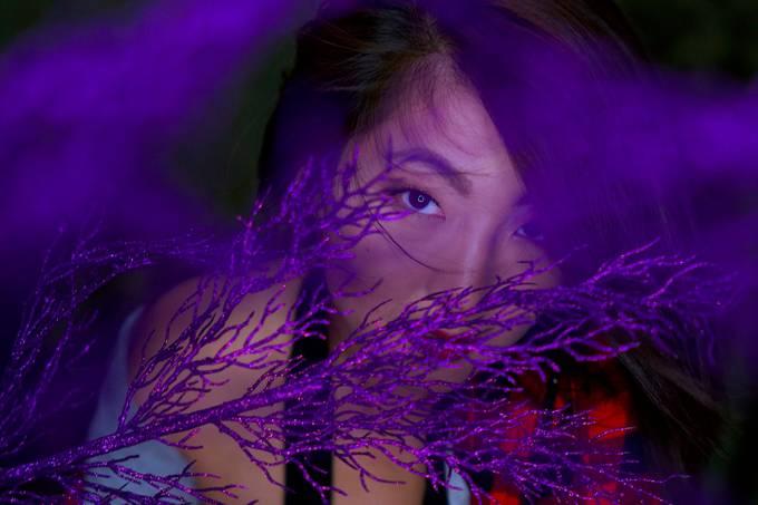 Michelle in purple by dpken - Shades Of Purple Project
