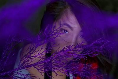 Michelle in purple