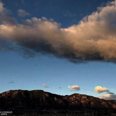 Morning clouds over Cheyenne Mountain, Colorado Springs, Colorado