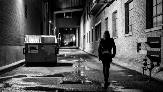 Downtown at Night by mea115546 - City Life In Black And White Photo Contest