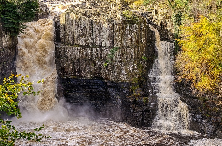 High Force is a waterfall on the River Tees, near Middleton-in-Teesdale, Teesdale, County Durham,...