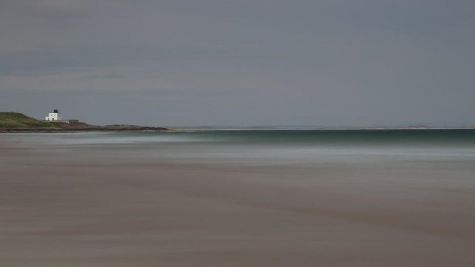 long exposure of the beach at Bamburgh, Northumberland