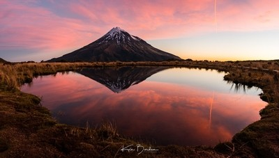 Mount Taranaki at sunset