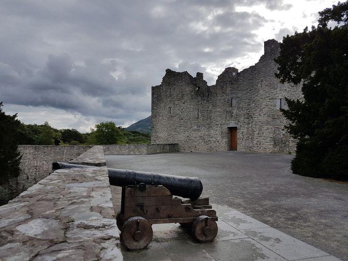 Ross castle in Killarney Ireland