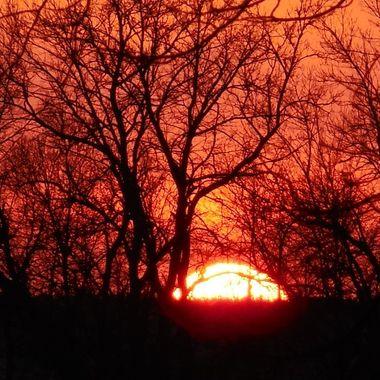 Sunset At Old Women Lake