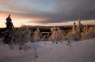November sunset in Lapland