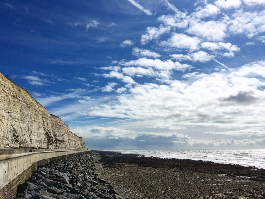 Biking at the Brighton coast along the undercliff walkway. Caught a beautiful afternoon before in...