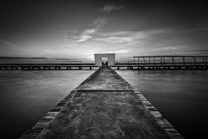 The Pier by peterfoldiak - Black And White Landscapes Photo Contest