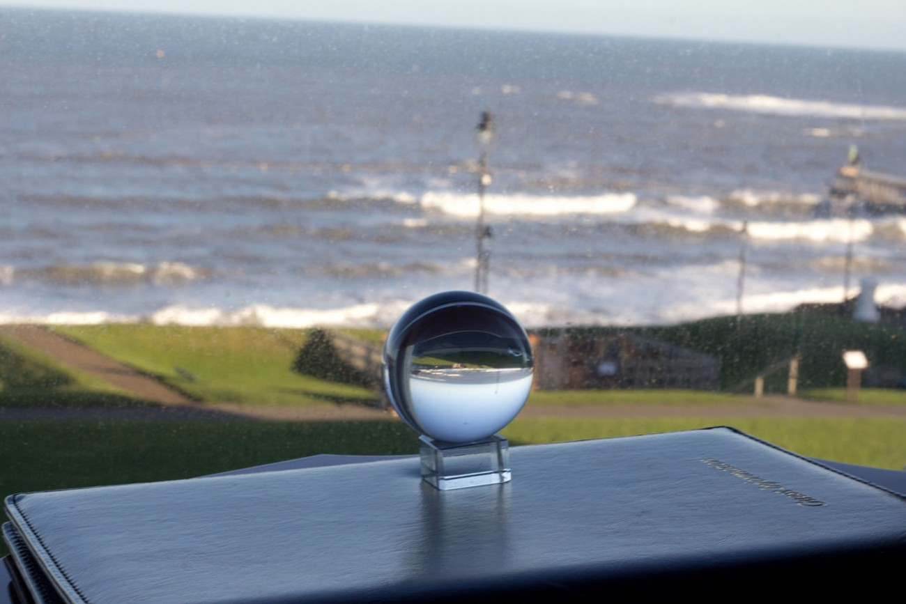 Nov 2017 the start of a new project of taking photographs through a crystal ball