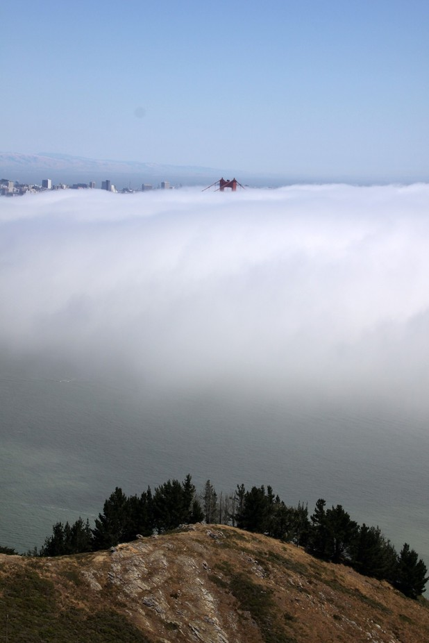 Fog over SF Bay by lhartney - Fog And City Photo Contest