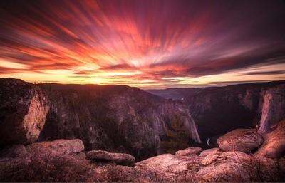 Sunset at Taft Point, Yosemite.