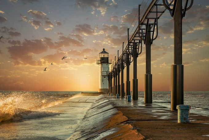 St. Joseph Lighthouse by Jennifergoode - Promenades And Boardwalks Photo Contest