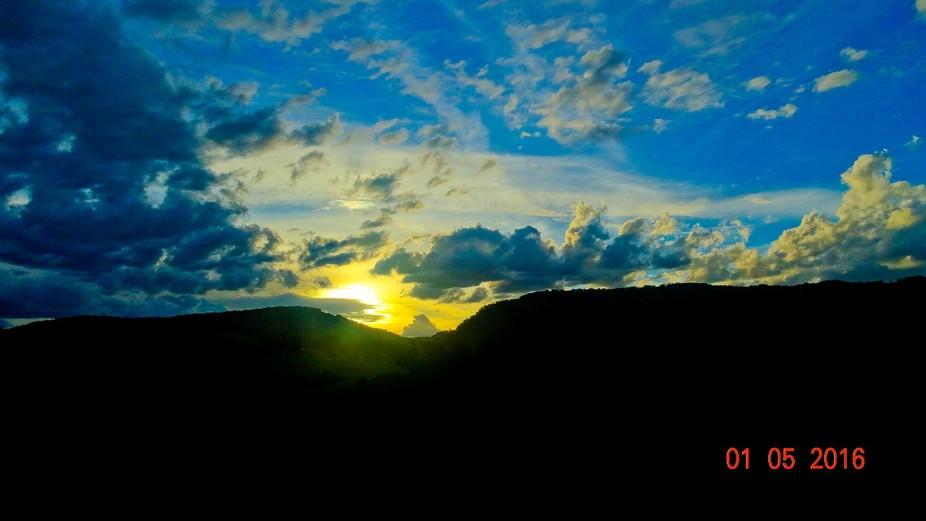 Sunset colour