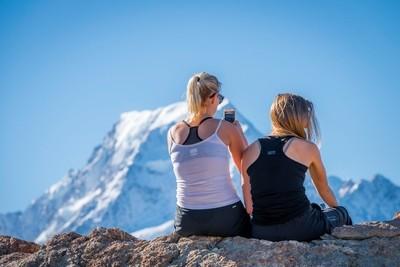 mountain climbing in New Zealand