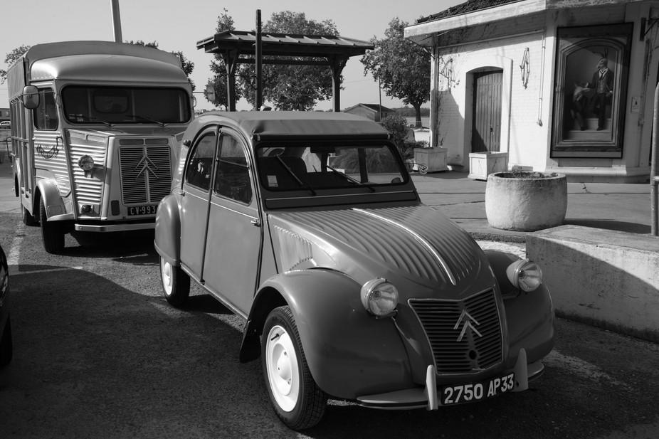 "Old Citroen cars. The design is still ""extraordinaire""."