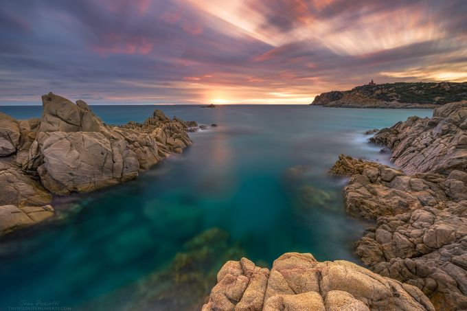 Sunset in Cala Cipolla by wildlifemoments - Bright Colors In Nature Photo Contest