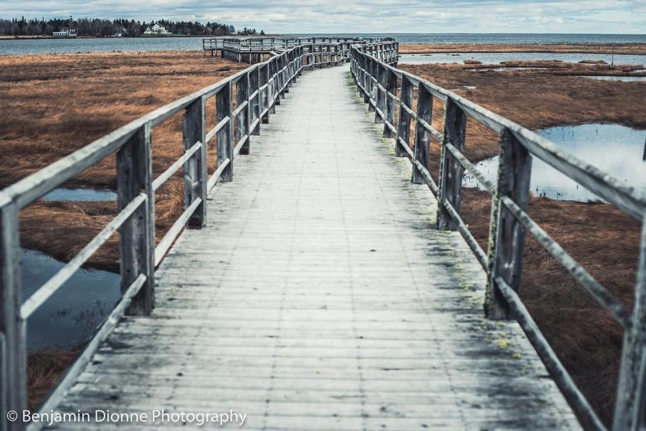 Boardwalk near Bathurst New Brunswick