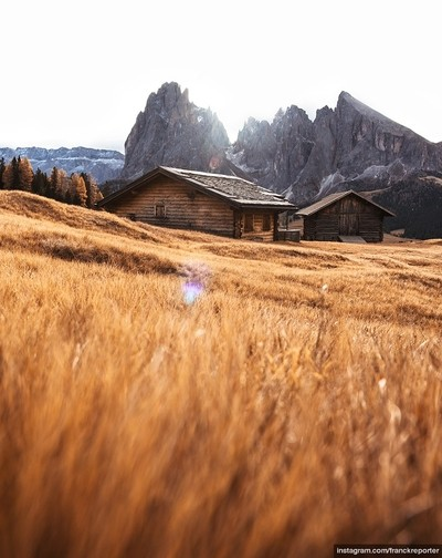 Seiser Alm at sunrise in italy