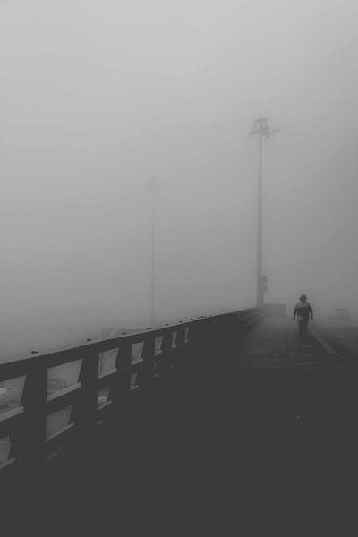 A foggy Thessaloniki morning