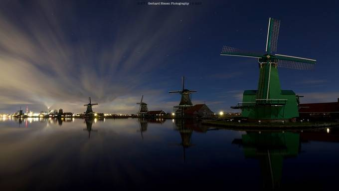 Night @ the windmills by Gpn1980 - Night Wonders Photo Contest