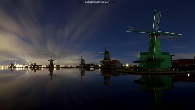 Night @ the windmills by Gpn1980 - Night Wonders Photo Contest