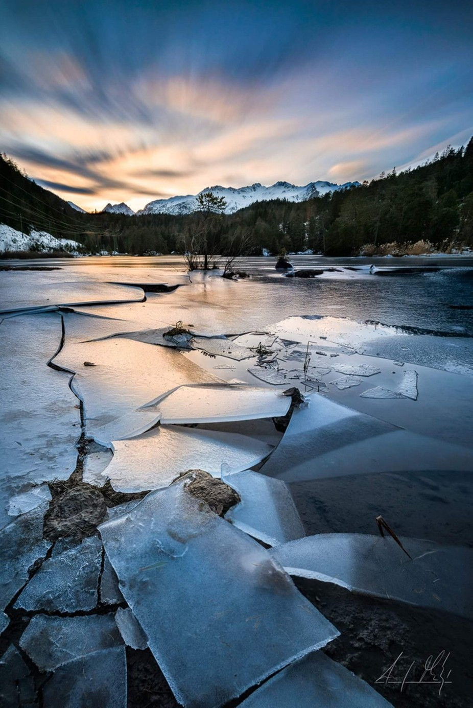 YELLOW ICE SHEET you need a little bit sun, ice and luck by AndyMathysPhotography - The Cold Winter Photo Contest
