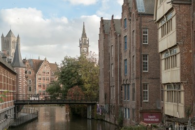 Two towers in Ghent, Belgium