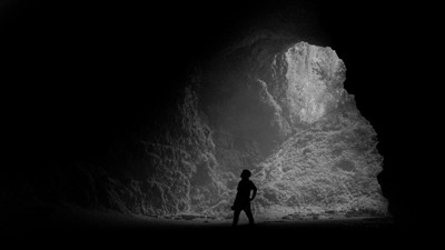 Only Black and White in The Cave