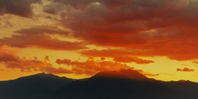 Sunset over Mount Olympus