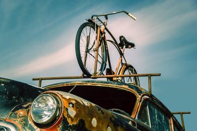 Truck with vintage bike