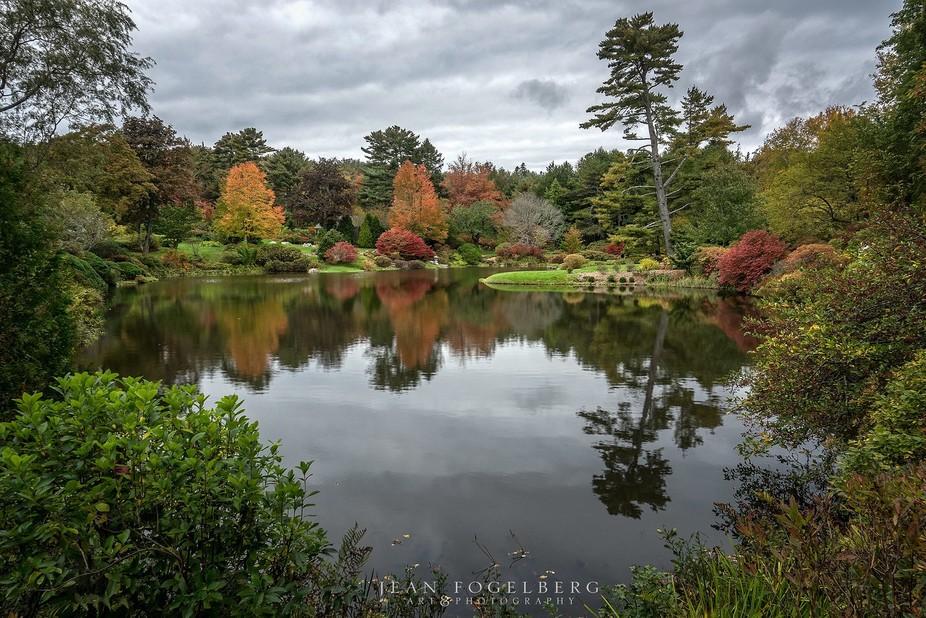 Asticou Azalea Garden in Northeast Harbor, Maine.