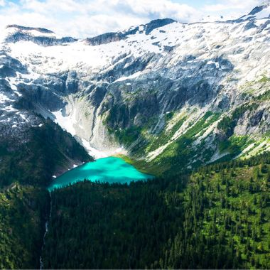 Alpine lake - aerial shot