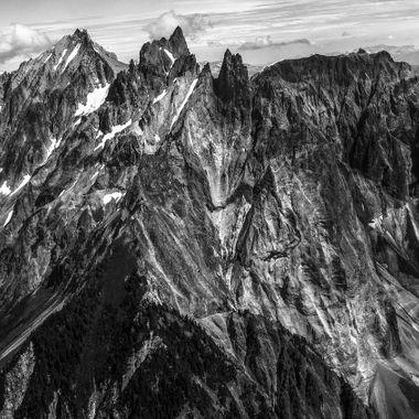 Beautiful mountain Cayley nestled in Coastal mountain range of British Columbia.