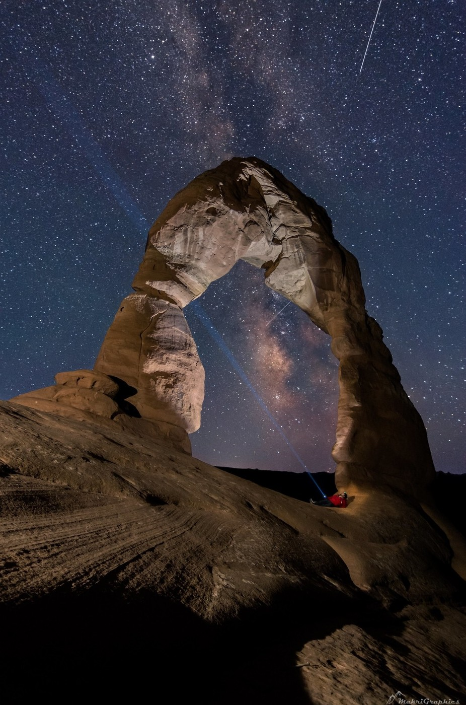 Signaling the Aliens from Delicate Arch by MakriGraphics - Social Exposure Photo Contest Vol 12