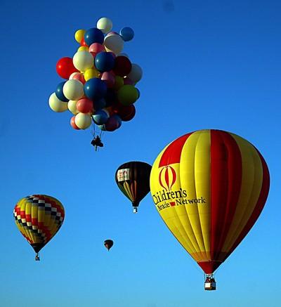 Hot air balloons over Ripon Ca.