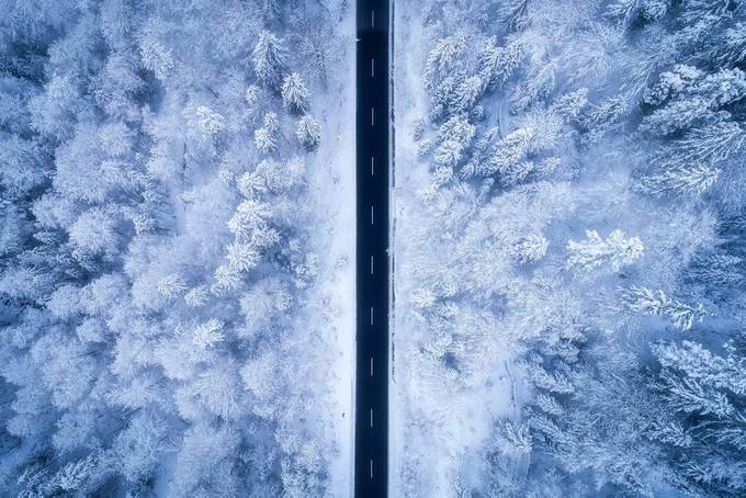 A Frosty Road by Daniel-Photography - A Road Trip Photo Contest